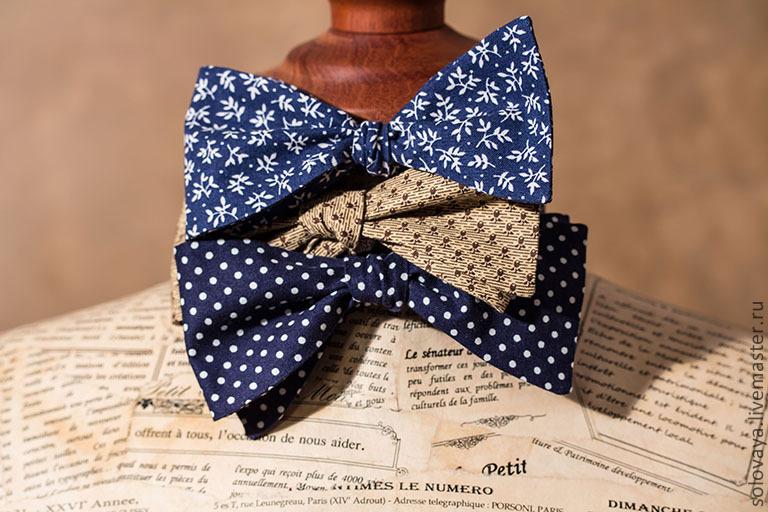 Мастер класс как сшить галстук бабочку
