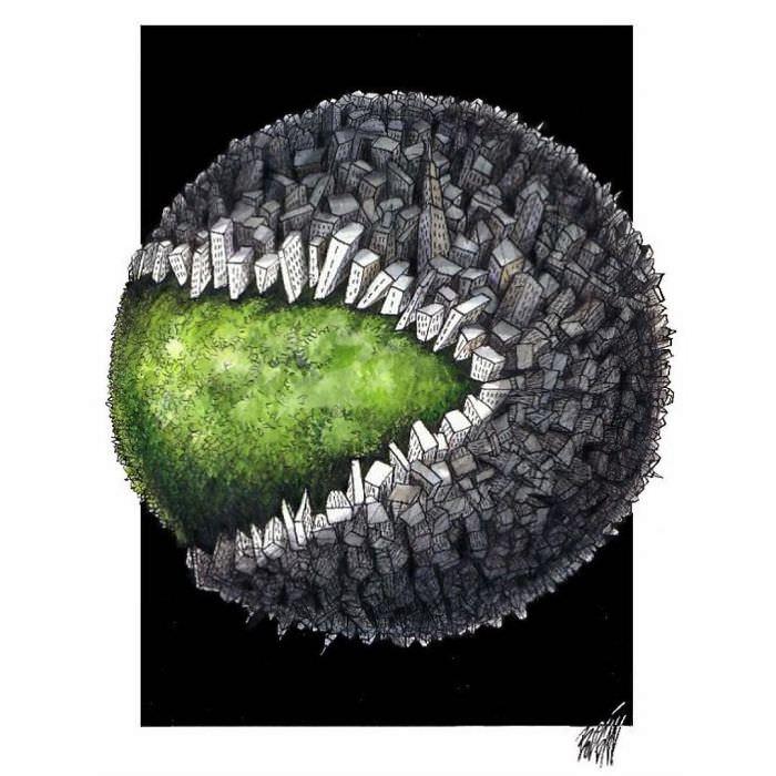 Что не так с нашим обществом? Жесточайшие иллюстрации Анхеля Болигана Вот, кто ответит на этот вопрос.