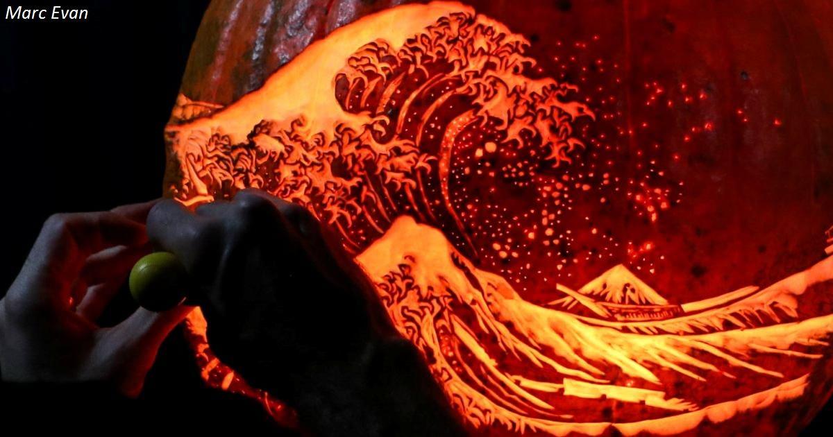 12 реальных фото о том, почему вырезание на тыкве - особый вид искусства Жутко впечатляюще!