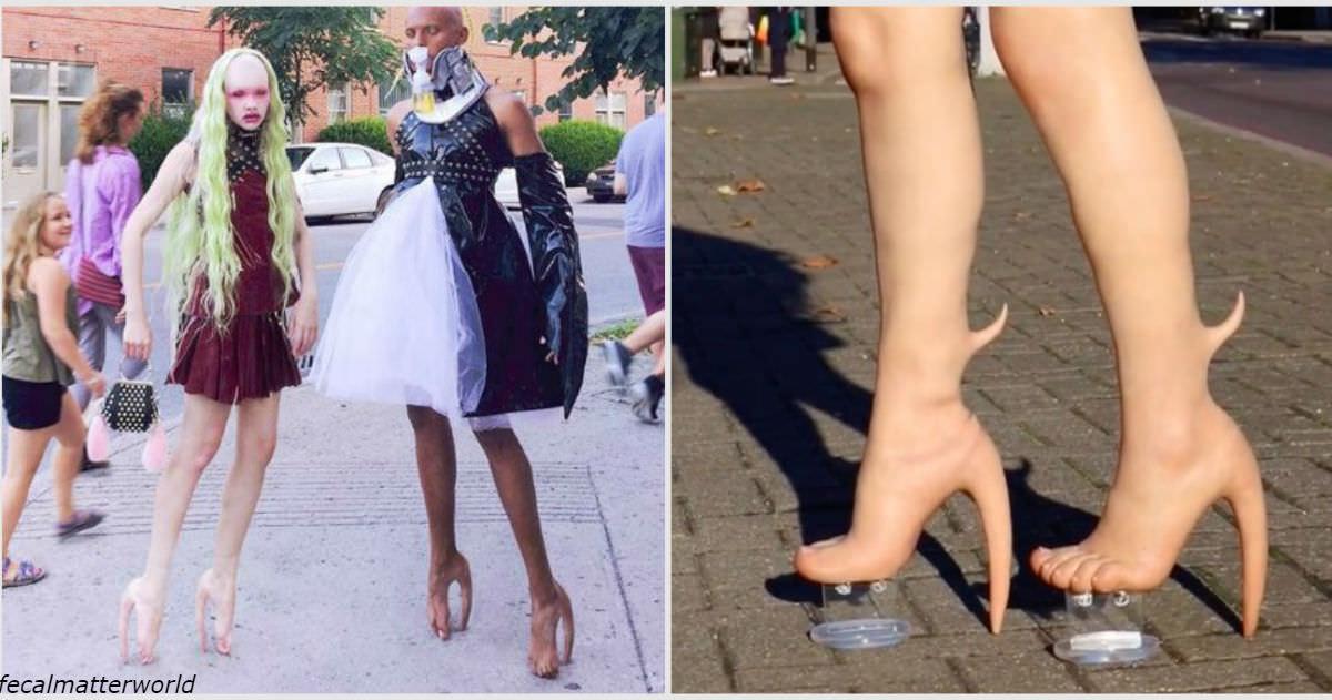 Теперь вы можете купить каблуки из ?человеческой кожи? за USD 10 000! Или заказать точную копию своих мутировавших ног.
